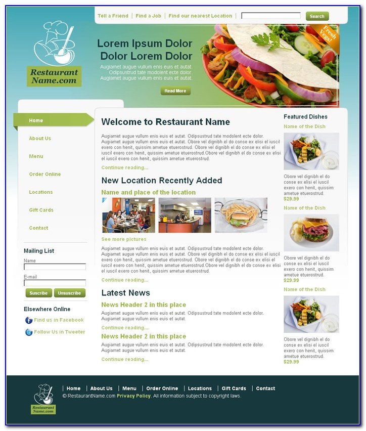 Dreamweaver Newsletter Template Free Download