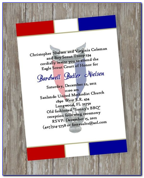 Eagle Scout Court Of Honor Invitation Template Free