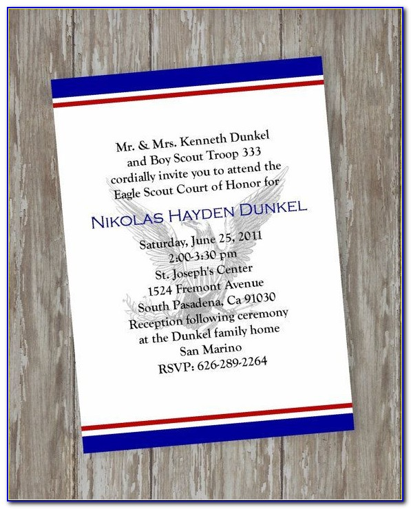 Eagle Scout Court Of Honor Invitation Word Template