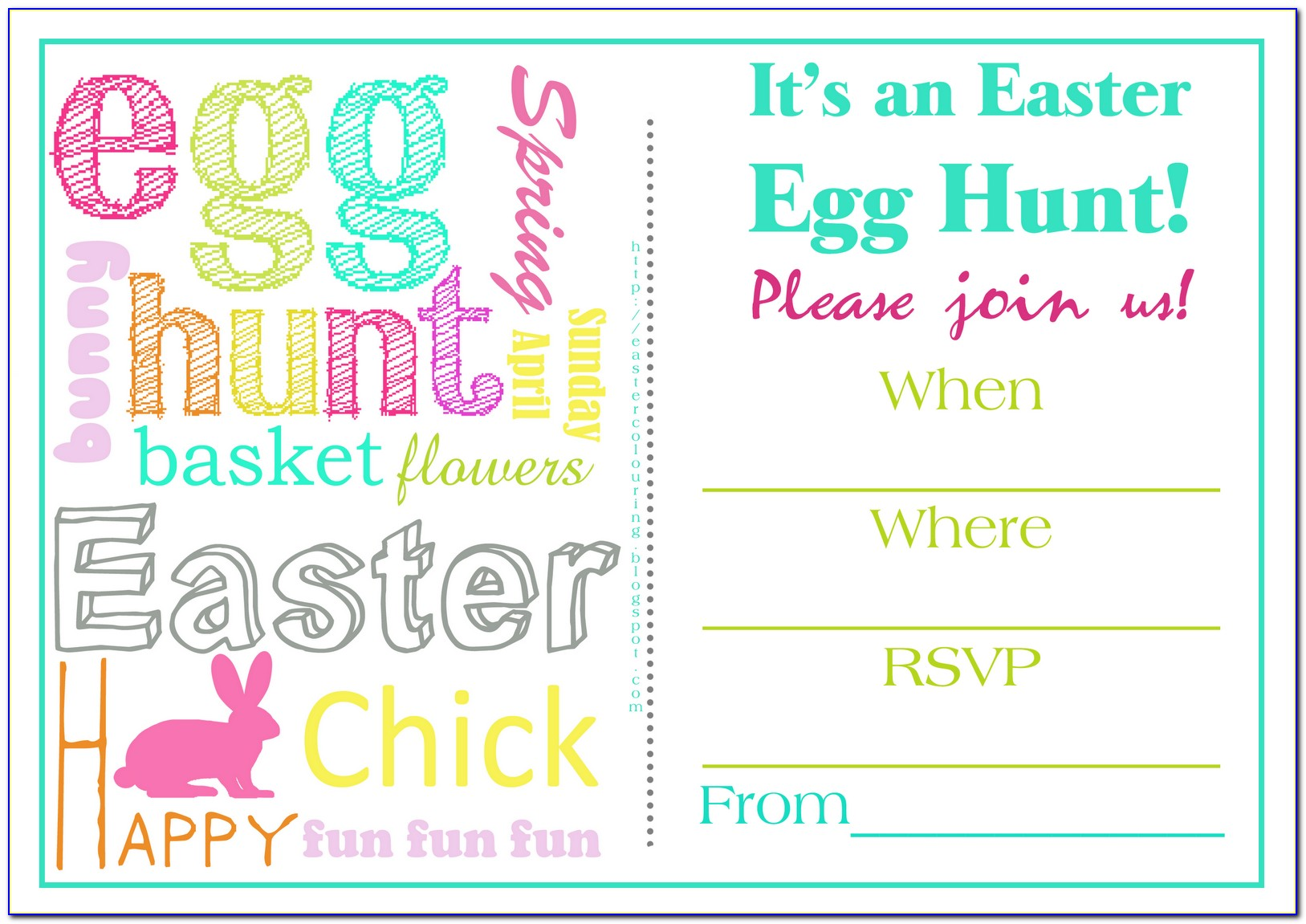 Easter Invitation Cards Templates