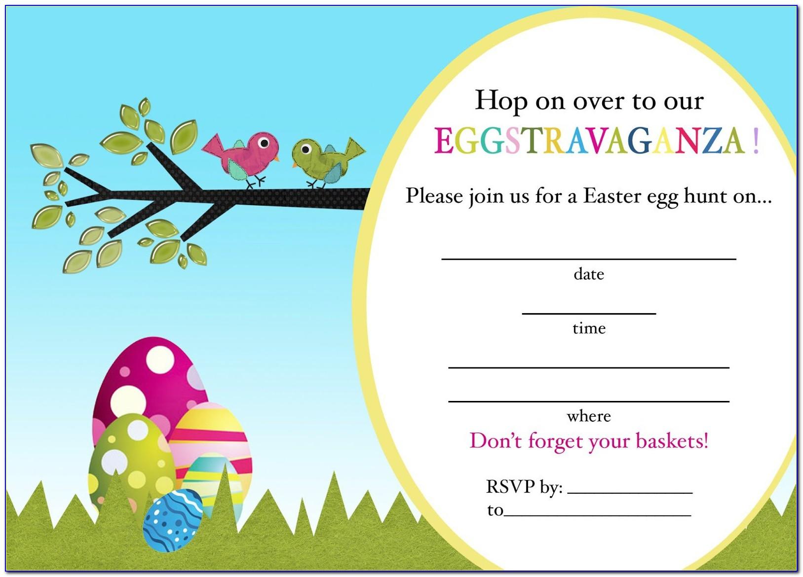 Easter Invitation Templates Free