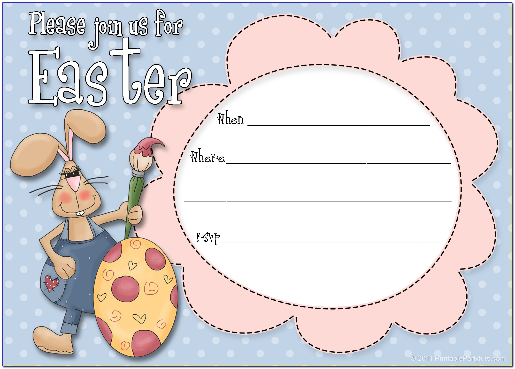 Easter Party Invitation Templates Free