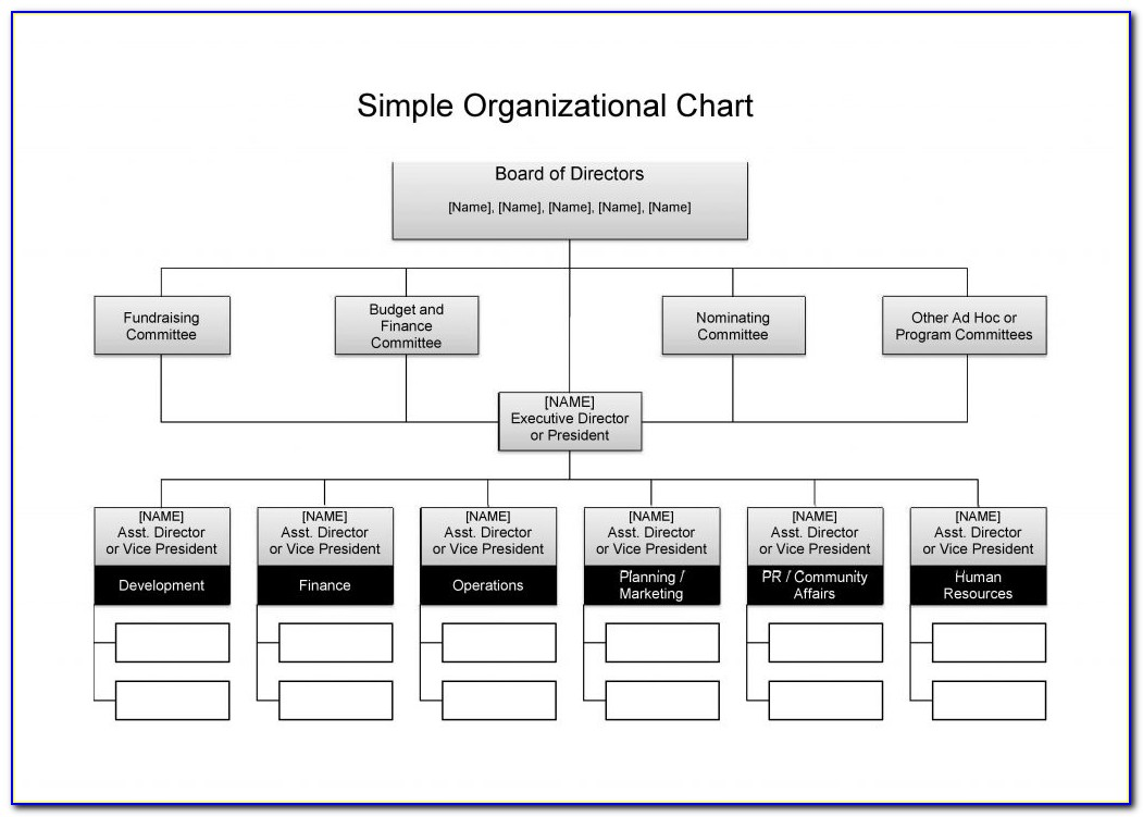 Easy Org Chart Template