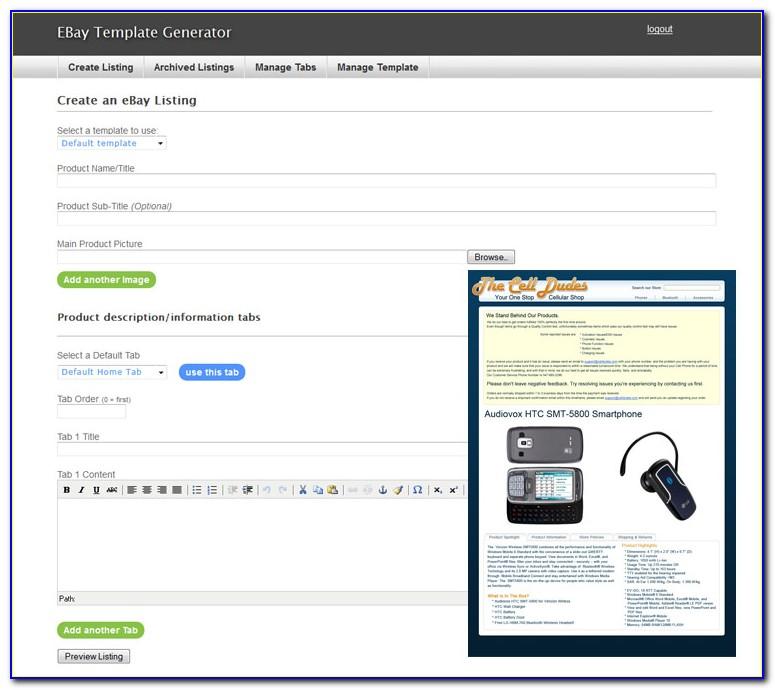 Ebay Template Builder Free