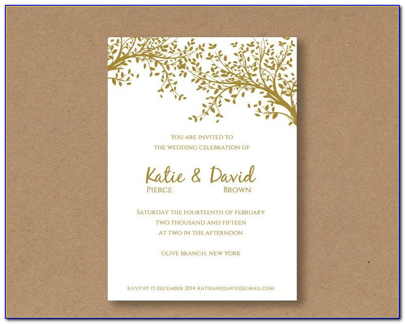 Editable Invitation Templates Free