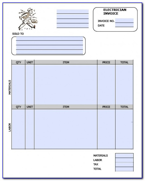 Electrical Invoice Template Free