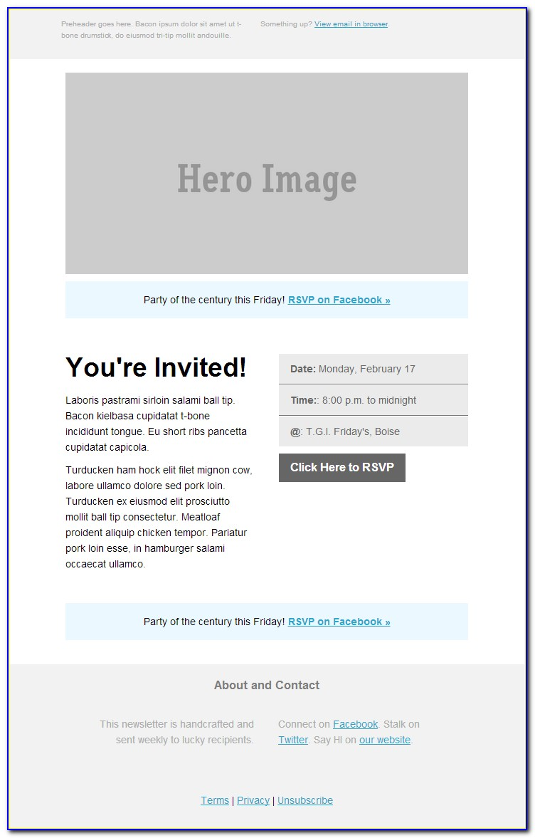 Electronic Business Invitation Templates