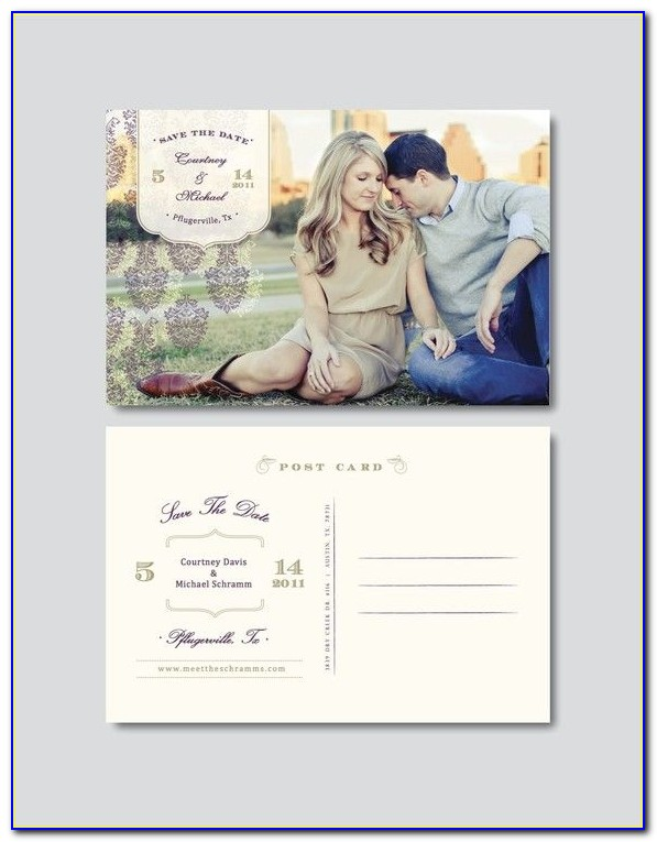 Electronic Save The Date Wedding Invitations