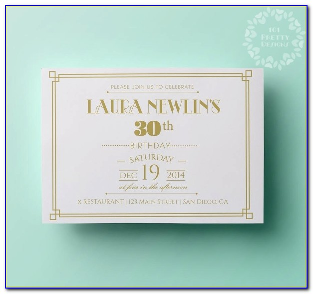 Elegant 50th Birthday Invitation Templates