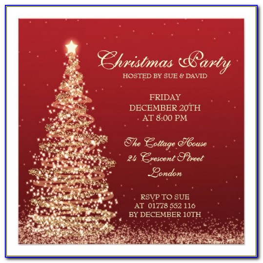 Elegant Christmas Party Invitation Template Free