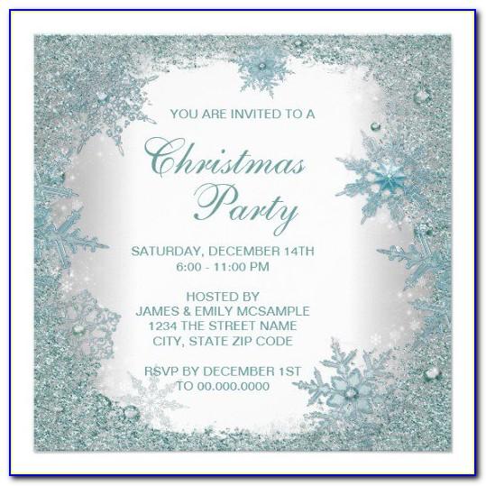 Elegant Christmas Party Invitation Templates