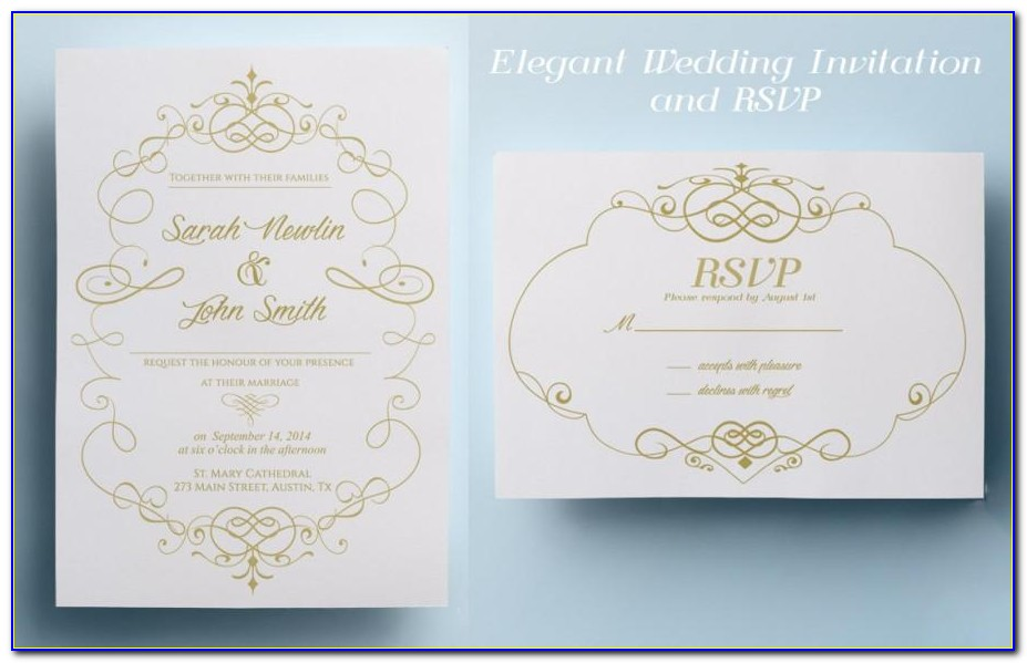 Elegant Wedding Invitation Templates Free Download