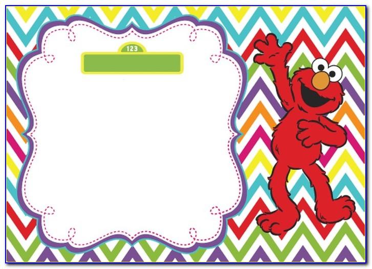 Elmo 1st Birthday Invitation Templates