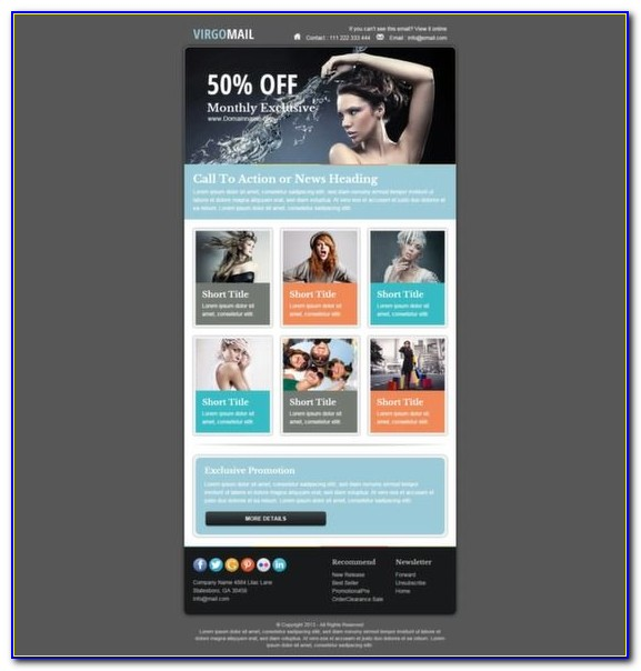 Email Newsletter Templates For Mailchimp