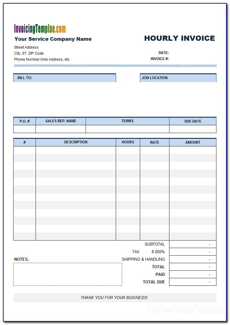 Email Template For Invoicing