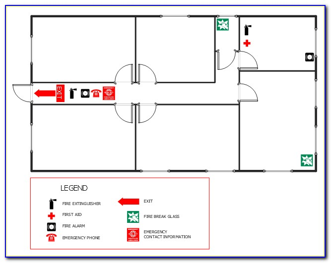 Emergency Exit Floor Plan Sample