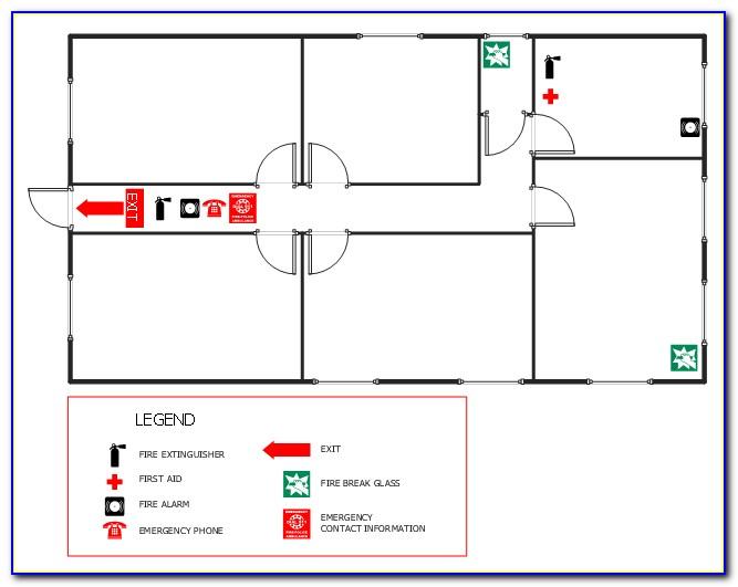 Emergency Exit Floor Plan Sample
