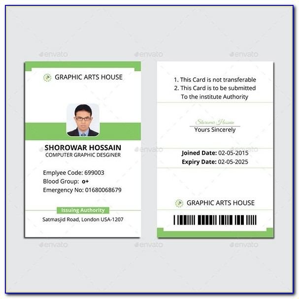 Id Card Template 60+ Download In Psd, Pdf, Word Regarding Employee Id Card Template Psd Free Download