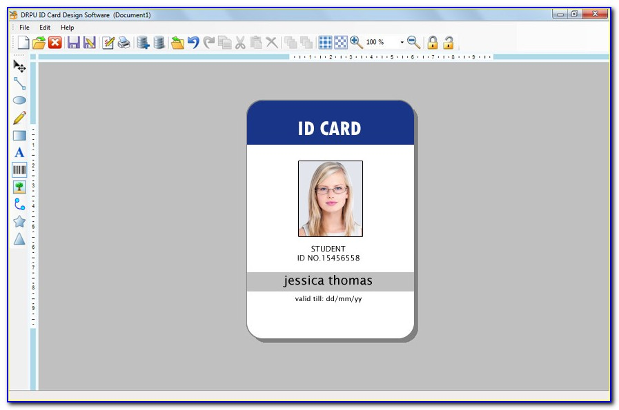 Employee Id Badge Template Portrait