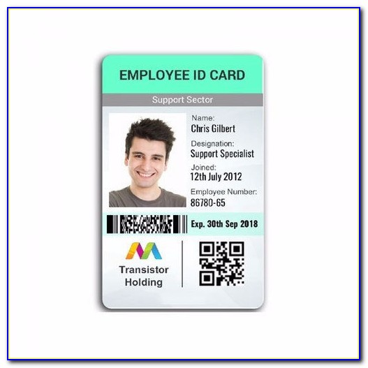 Employee Id Badge Template Word