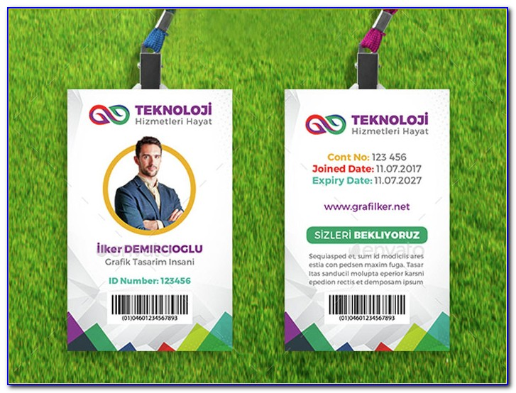 Employee Id Badges Template Free