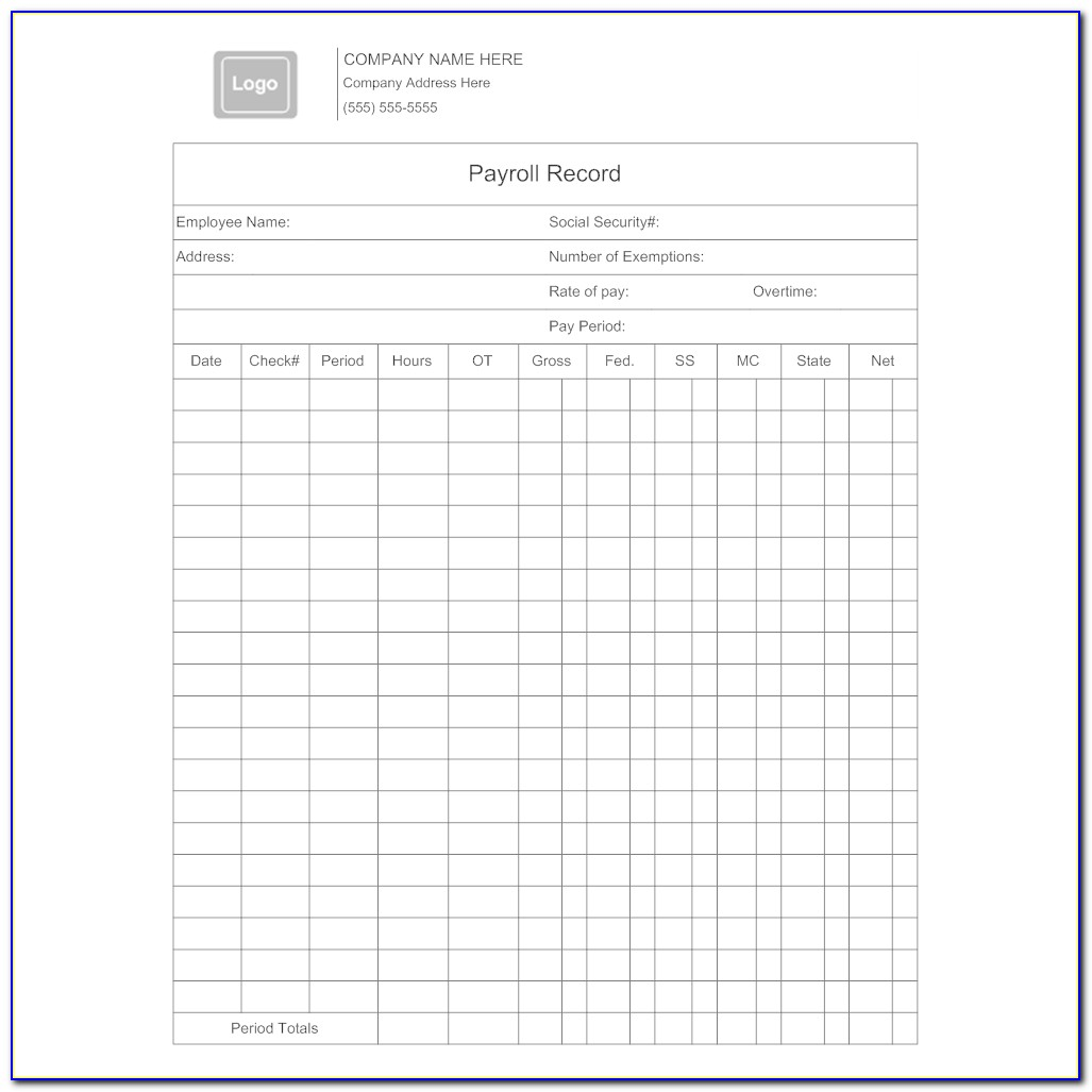 Employee Record Template Free Download