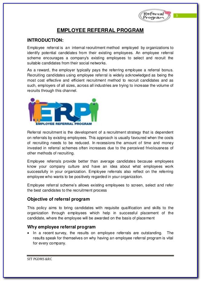 Employee Referral Program Flyer Template