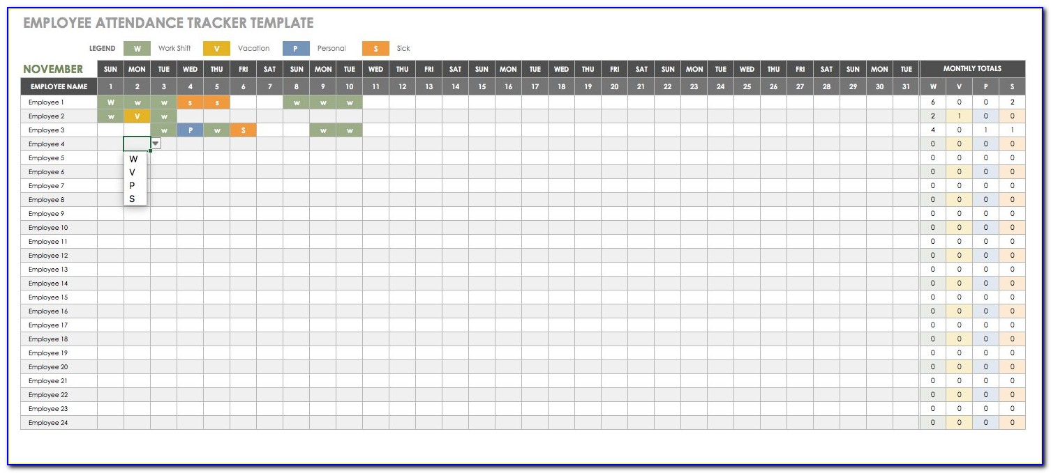 Employee Hours Tracking Spreadsheet Inside Free Human Resources Templates In Excel