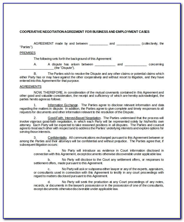 Employment Settlement Agreement Template Uk