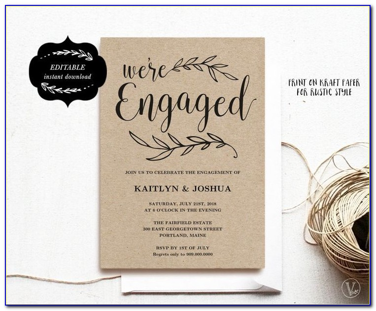 Engagement Invitations Template Free