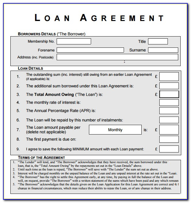 Equipment Loan Agreement Template Free