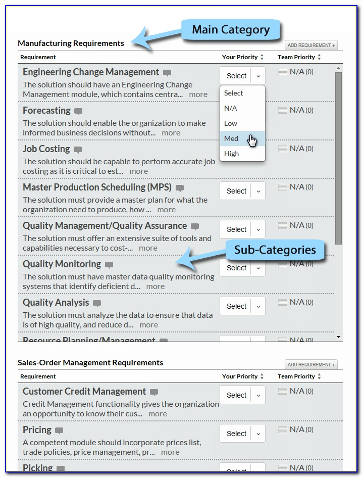 Erp Requirements Gathering Templateerp Requirements Gathering Template