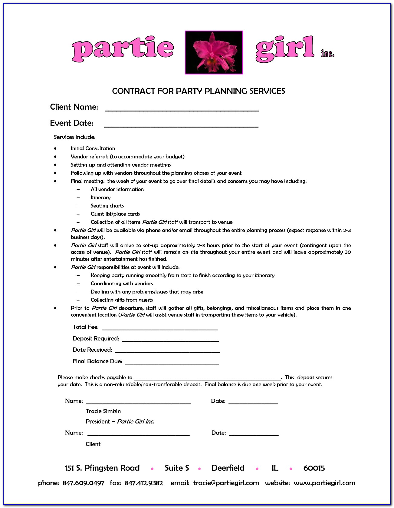 Event Management Contract Template