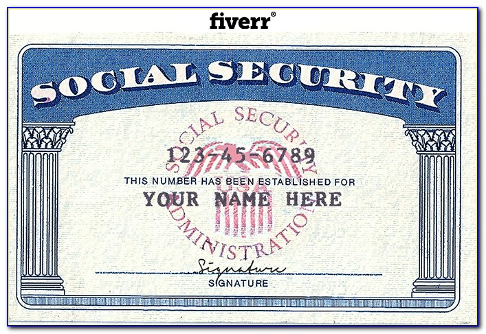 Fake Social Security Card Template Download
