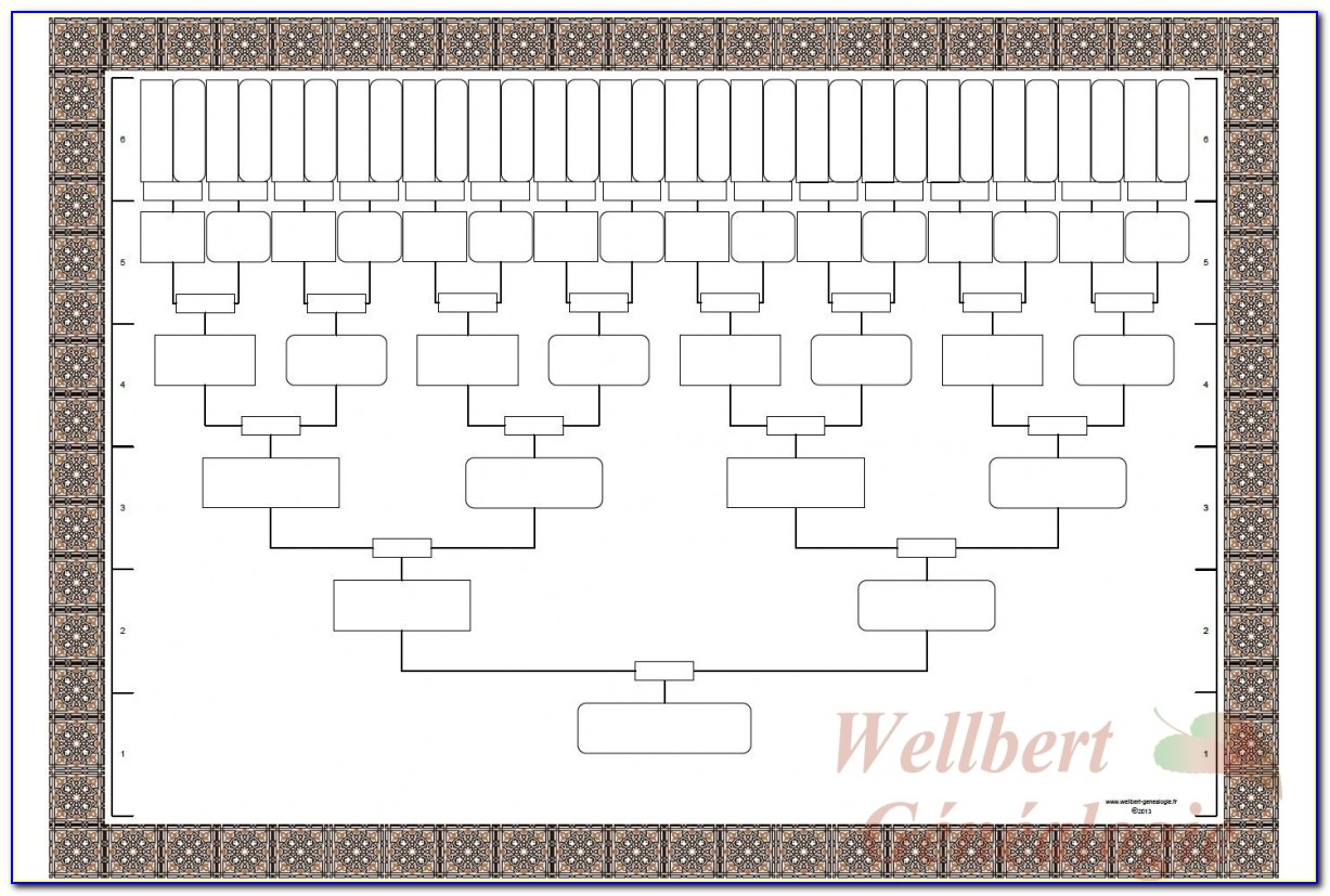 Family Genealogy Chart Template