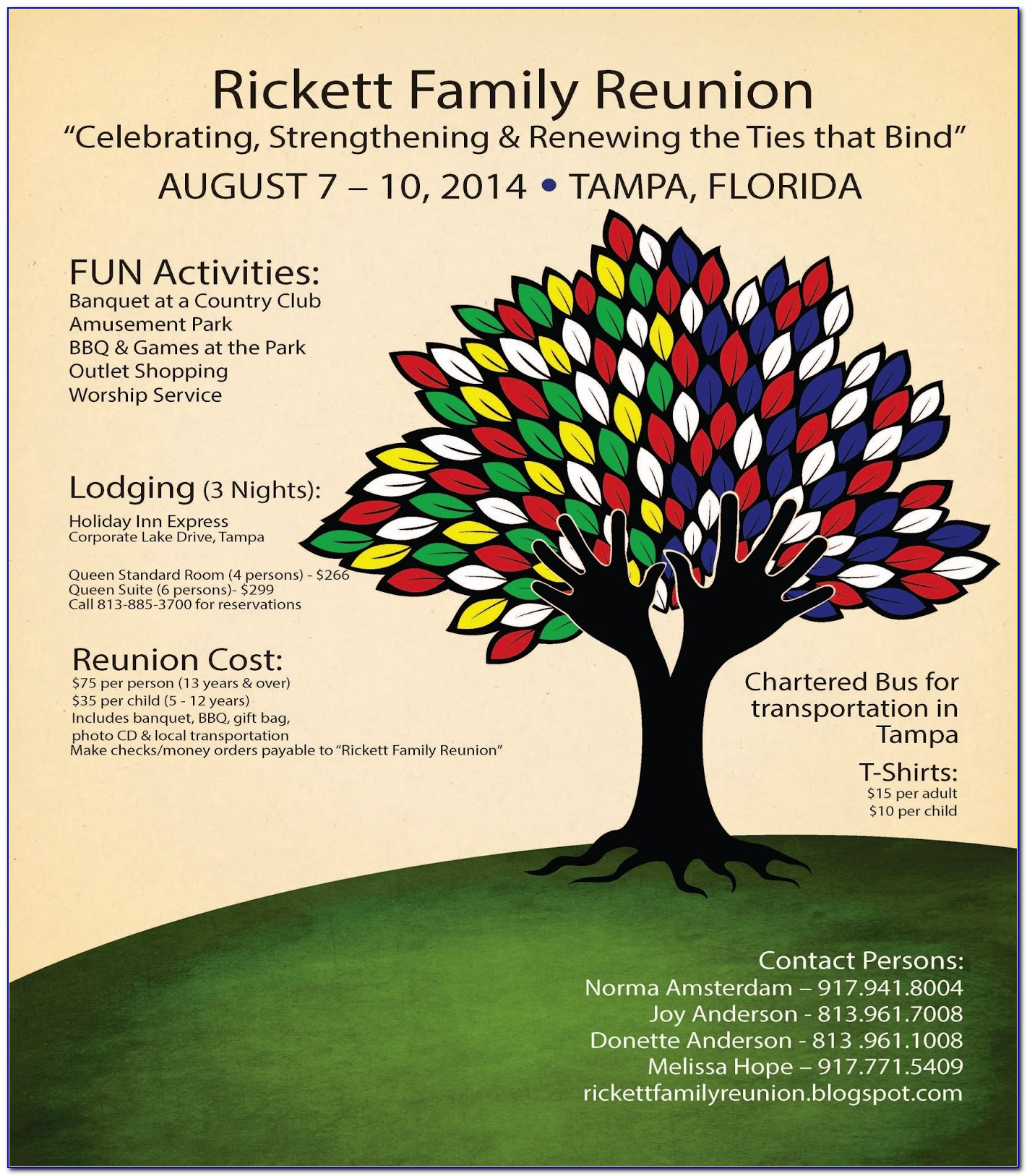 Family Reunion Flyer Template Word