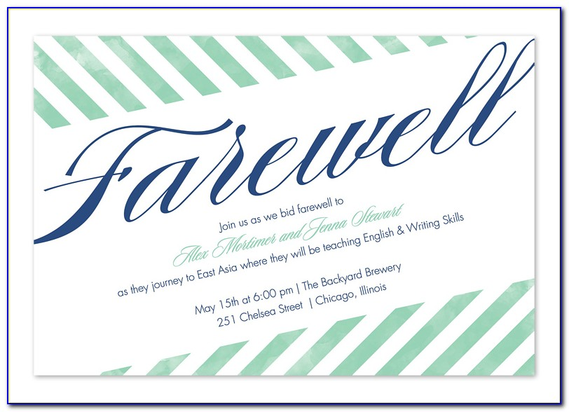 Farewell Party Invitation Template Free Download
