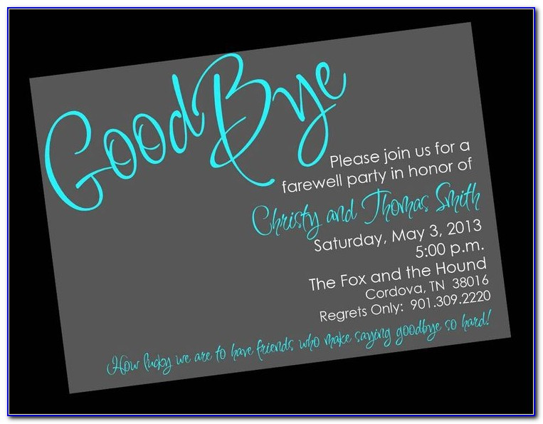 Farewell Party Invitation Template Word