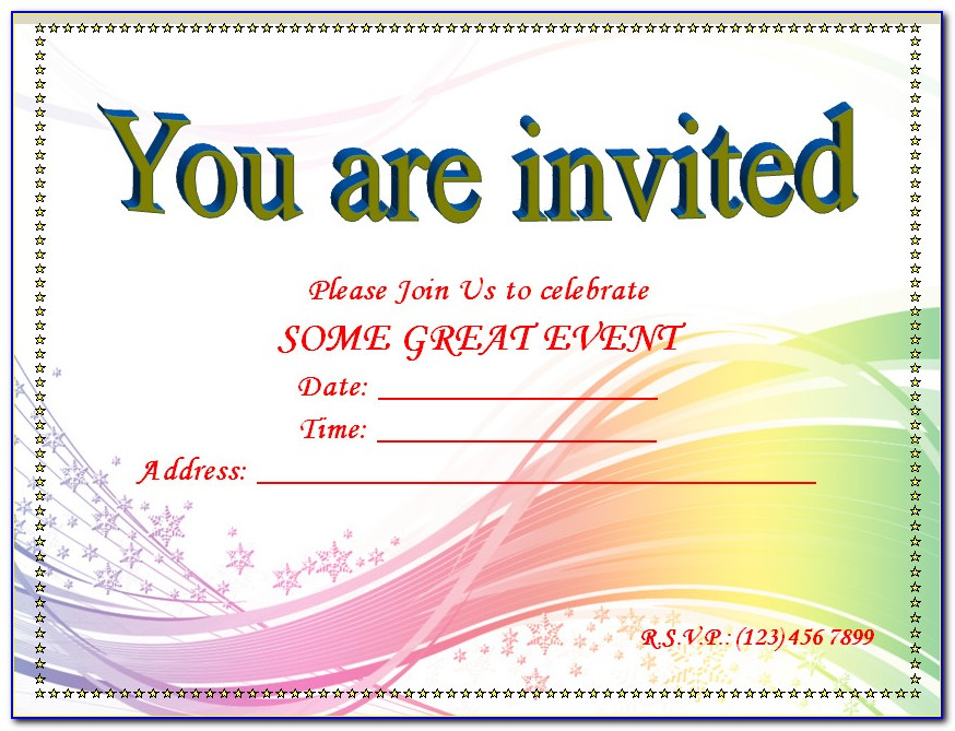 First Birthday Invitation Blank Templates