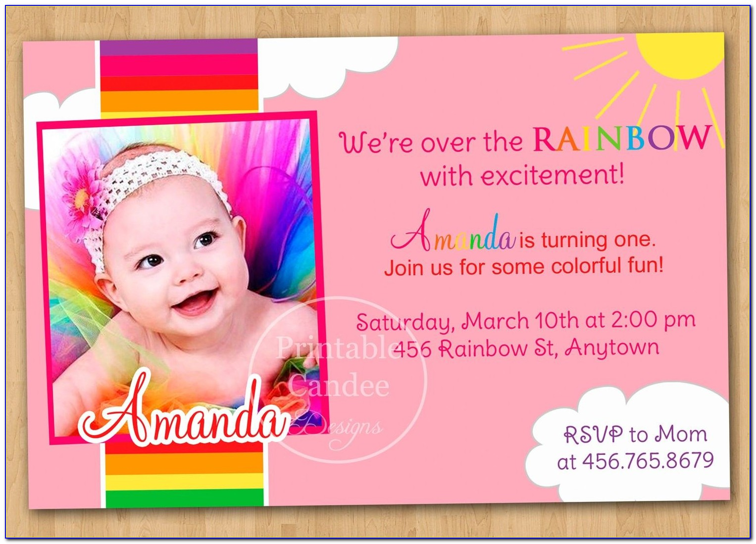 First Birthday Invitation Cards Templates Free India