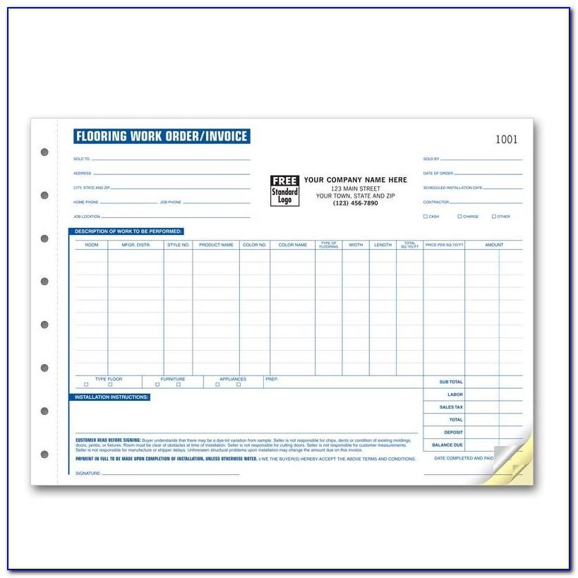 Flooring Invoice Template