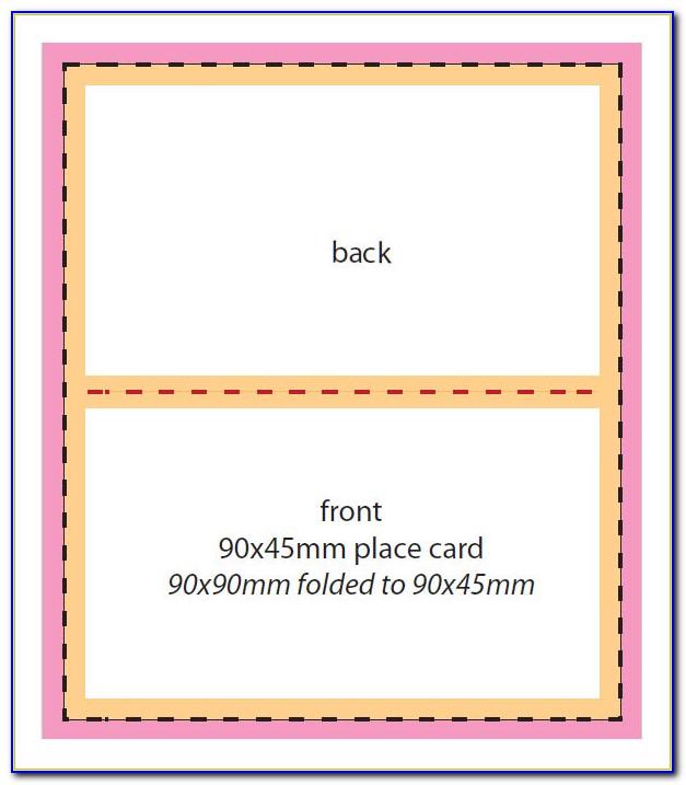 Foldable Name Card Template