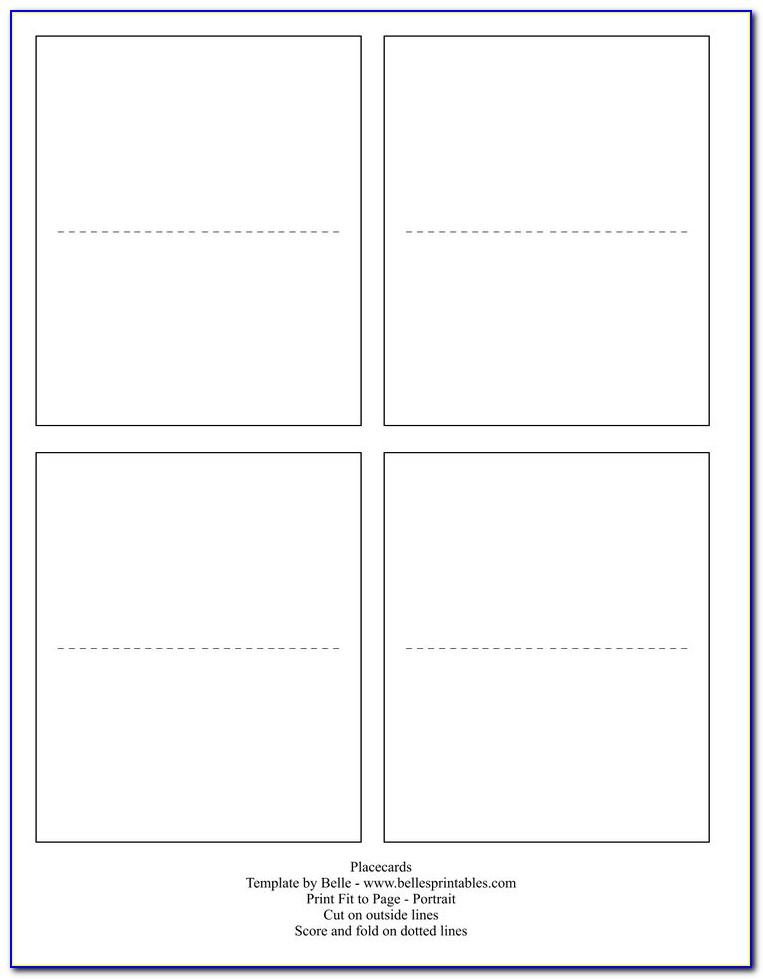 Foldable Place Card Template Free Download