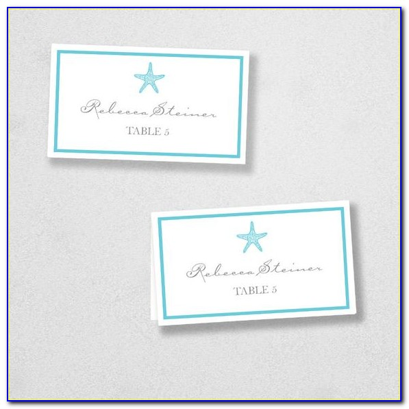 Folded Place Card Template Free