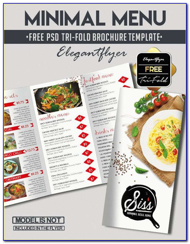 Food Menu Brochure Templates