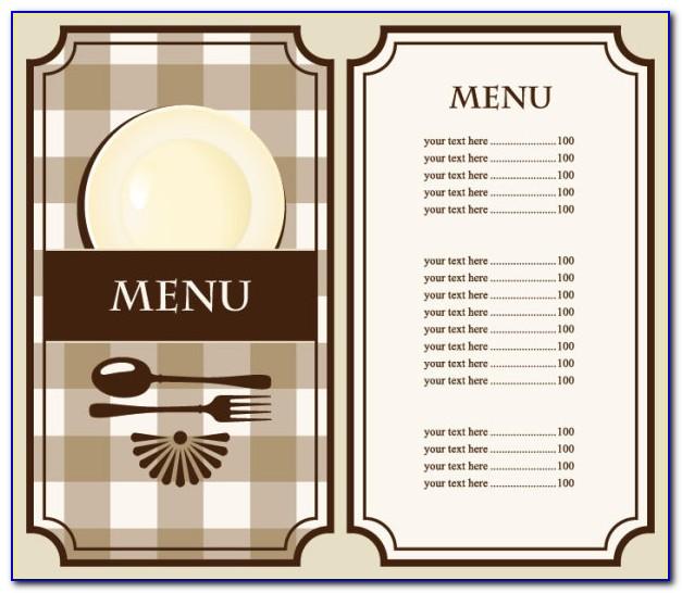 Food Menu Template Free Download