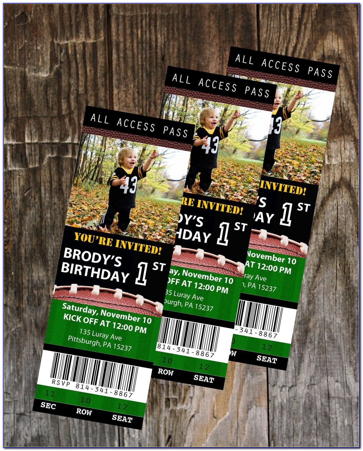 Football Ticket Invitation Template Free Download
