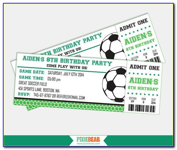 Football Ticket Party Invitation Template