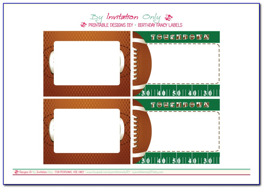 Football Ticket Wedding Invitation Template