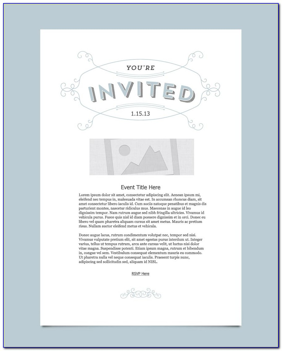 Formal Dinner Invitation Email Template